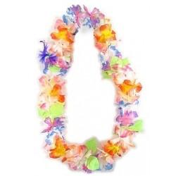 """Naszyjnik hawajski """"kolorowe kwiatki i listki"""""""
