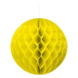 Rozeta Kula dekoracyjna, 30cm żółta