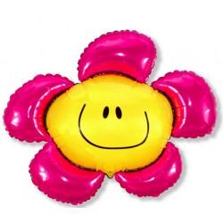 Balon foliowy kwiatek różowy 86x100
