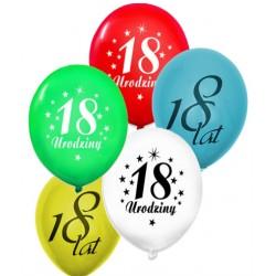 Balony gumowe na 18 ur, 5szt