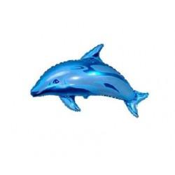 Balon foliowy Delfin niebieski 72x97