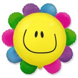 Balon foliowy Kwiatek tęczowy 75x77