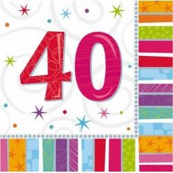"""Serwetki papierowe """"40"""", 16szt"""