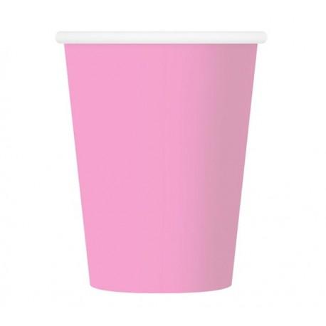Kubeczki papierowe jasny róż, 6szt.