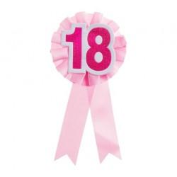 Kotylion na 18 urodziny, różowy