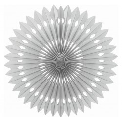 Rozeta dekoracyjna srebrna 40cm