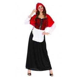Strój Czerwony kapturek - długa spódnica roz.38