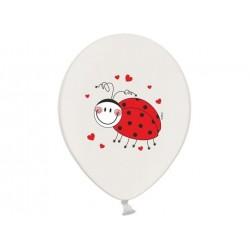 "Balon gumowy 30cm 14"" biedronka, 1szt"