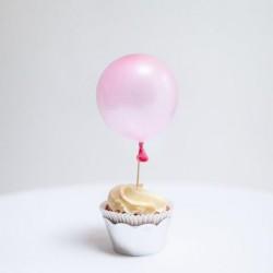 """Mini baloniki ,,Bąbelki"""", metaliczne różowe,  100szt."""