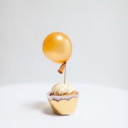 """Mini baloniki ,,Bąbelki"""", metaliczne złote,  100szt."""