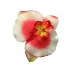 Hawajski kwiat do włosów, kremowy