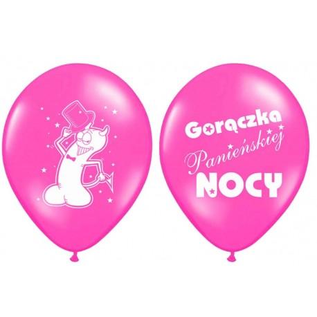 "Balony  ""Gorączka..."" różowe 1szt."
