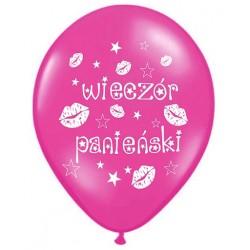 """Balony  """"Wieczór Panieński"""" różowe,1szt."""