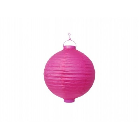 Ogrodowy lampion papierowy 20 cm, różowy, 1 szt.