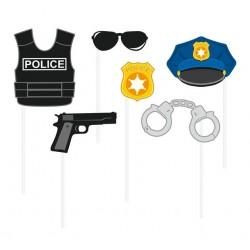 Rekwizyty do zdjęć Policja