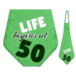 Krawat Life begins at 50