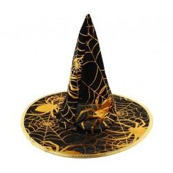 Kapelusz czarownicy ze złotą pajęczyną