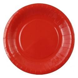 Talerzyki papierowe, czerwony 6 szt.