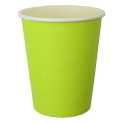 Kubeczki papierowe, zielony 6szt.