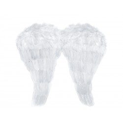 Skrzydła z piór Aniołka, białe, duże- PD1