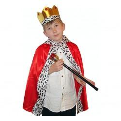 Strój króla- zestaw korona,peleryna, berło