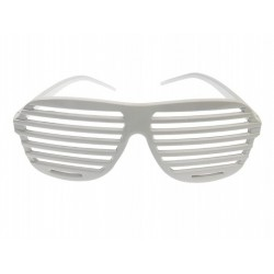 """Okulary """"Żaluzje"""" białe, 1 szt."""