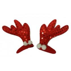 Spinki świąteczne, czerwone, 2 szt