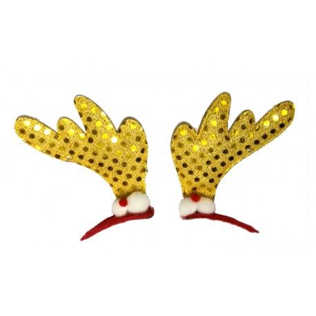 Spinki świąteczne, złote, 2 szt