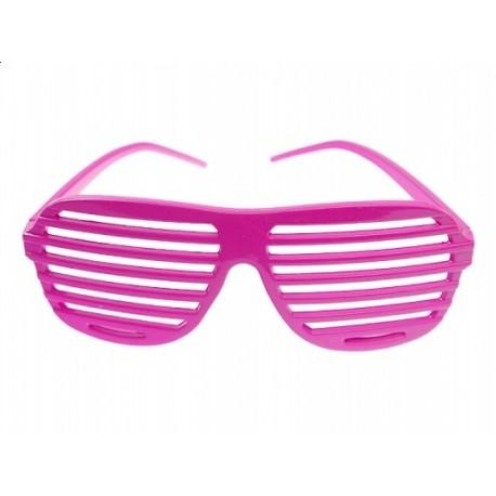 """Okulary """"Żaluzje"""" jasnoróżowe, 1 szt."""