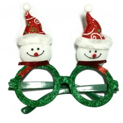 Okulary świąteczne, bałwanki