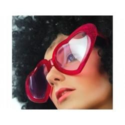 "Okulary ""Mega serca"", czerwone, 1 szt."