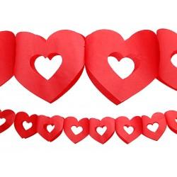 Grlanda bibułowa Serce, 3m