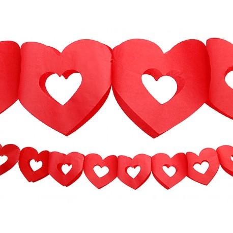 Grlanda bibułowa Serce