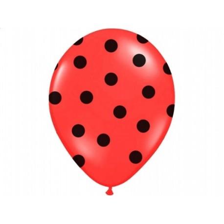 """Balon 14"""" Pastel Red """"Kropki"""", 1szt."""