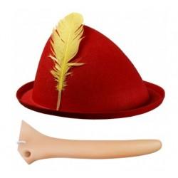 Nos + czapka Pinokio