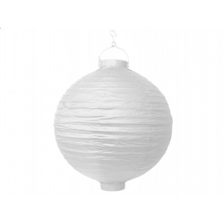 Ogrodowy lampion papierowy 30 cm, biały, 1 szt.