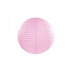 Lampion papierowy 20 cm, j. różowy, 1 szt.