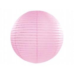 Lampion papierowy 35 cm, j. różowy, 1 szt.
