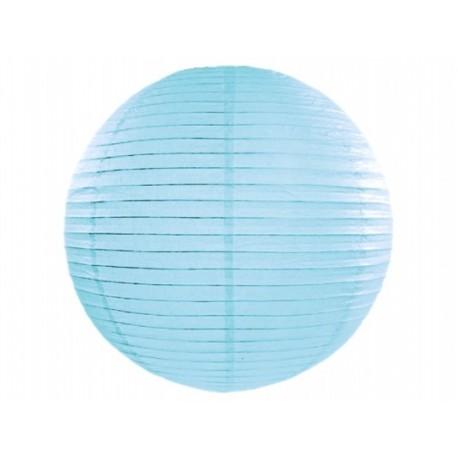 Lampion papierowy 35 cm, błękitny, 1 szt.