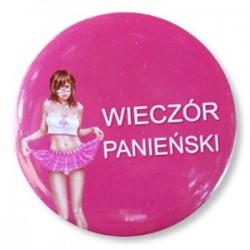 """Przypinka """"Wieczór Panieński"""" pink girl 1 szt."""