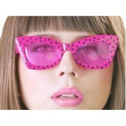 Okulary Pink with Black, różowy 1szt.