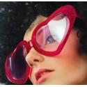 Okulary Mega serca, czerwone, 1szt.