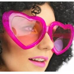 """Okulary """"Mega serca"""", różowe, 1 szt."""