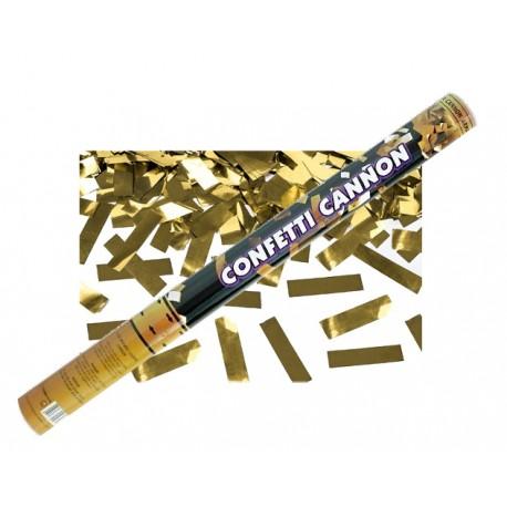 Tuba z konfetti, złoty, 60cm