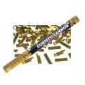Tuba strzelająca, konfetti złoty, 60cm