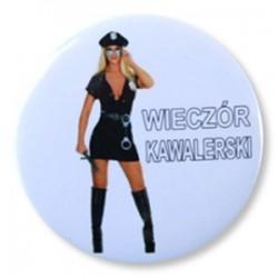 """Przypinka """"Wieczór Kawalerski"""" police woman al17-s"""