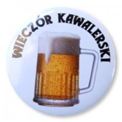 """Przypinka """"Wieczór Kawalerski"""" piwo al21-s"""