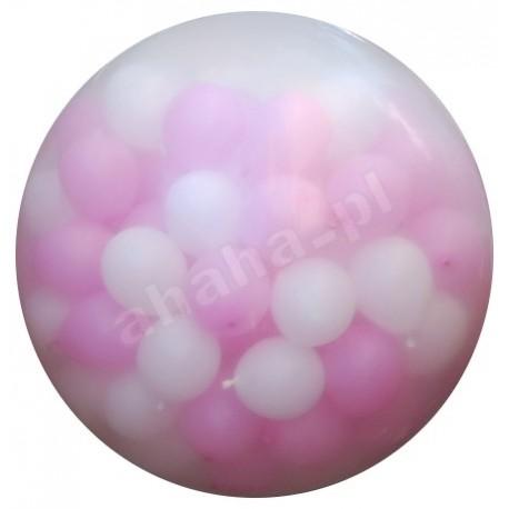 Strzelający balon gigant, przeźroczysty