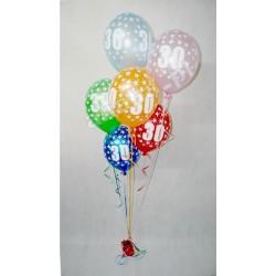 Balony z helem na 30. urodziny, 6szt.