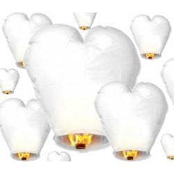 Lampion serce, biały